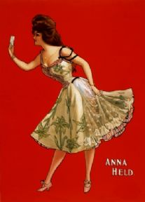 Vintage Anna Held Advertising Poster.